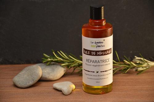 Huile de massage Réparatrice - Le Domaine des 1000 plantes
